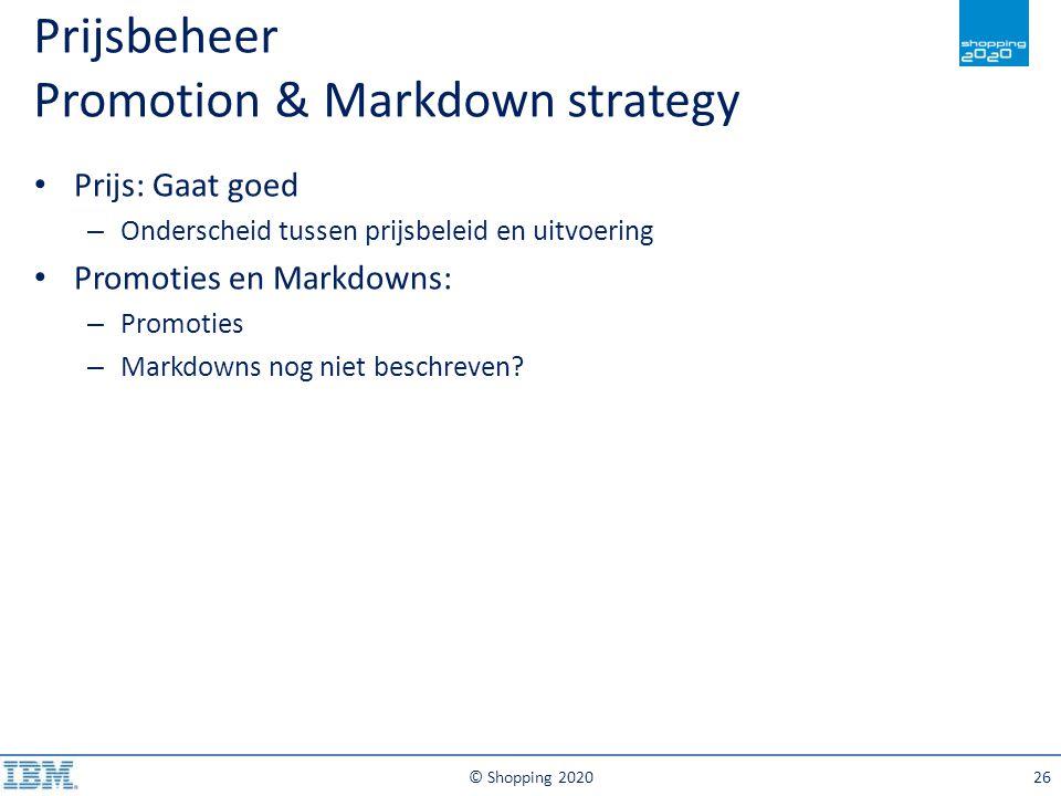 Prijsbeheer Promotion & Markdown strategy