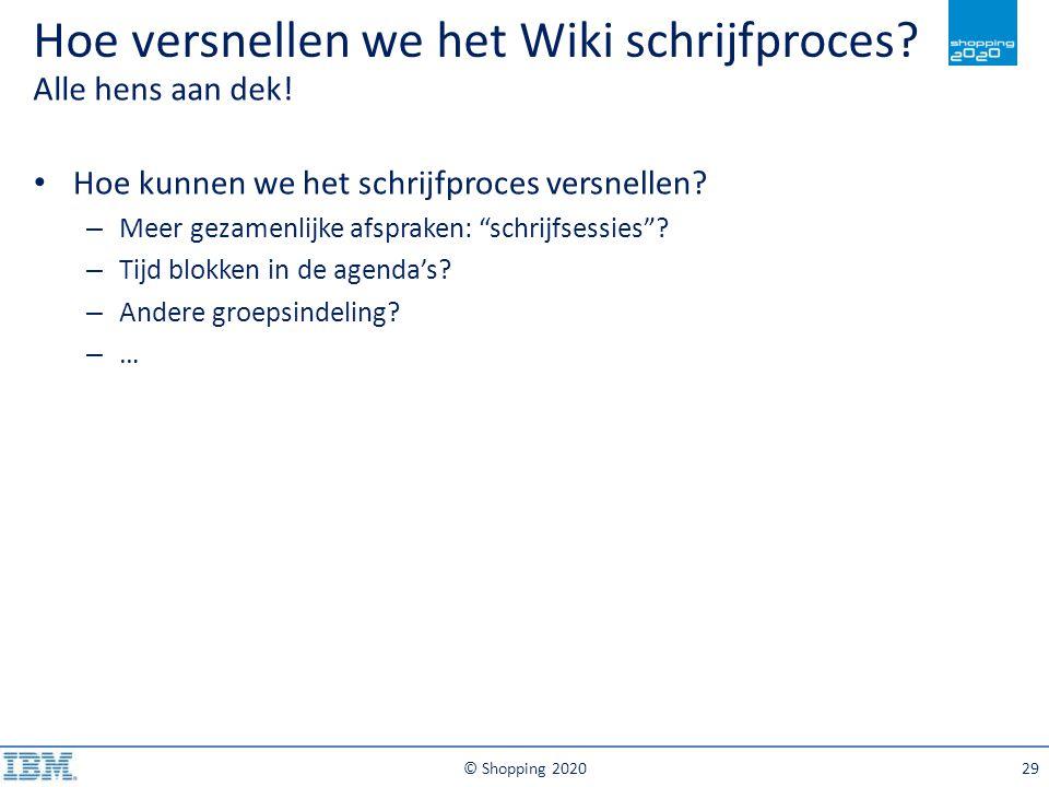 Hoe versnellen we het Wiki schrijfproces