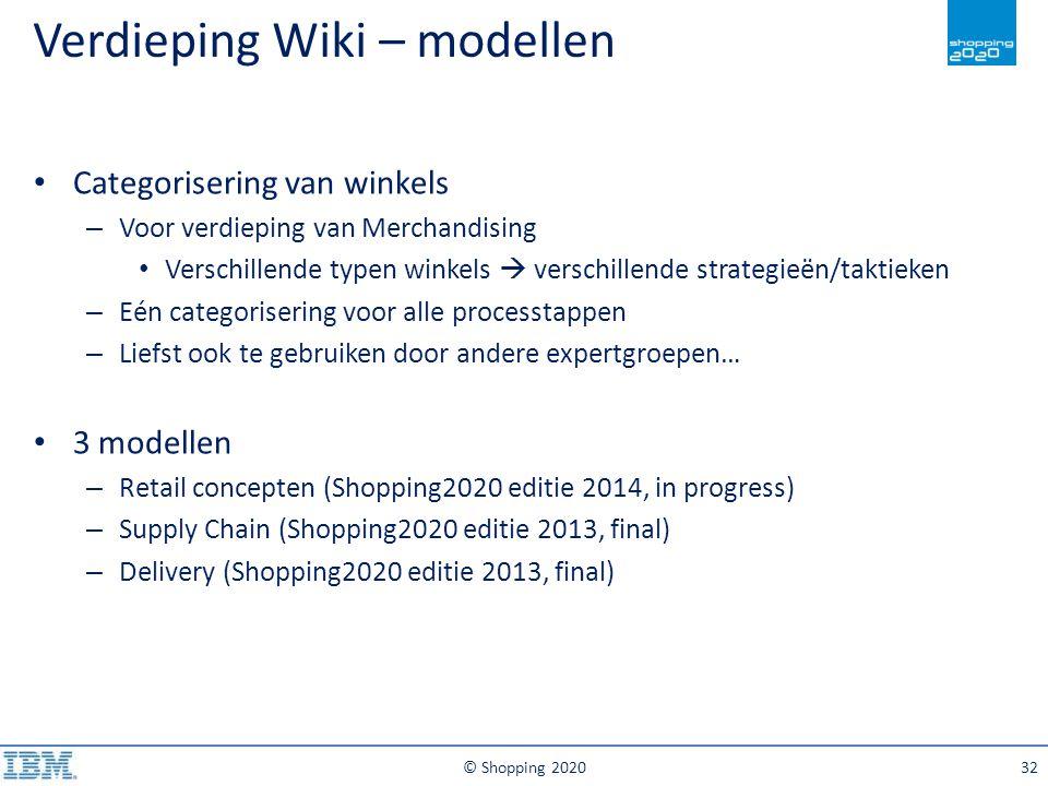 Verdieping Wiki – modellen