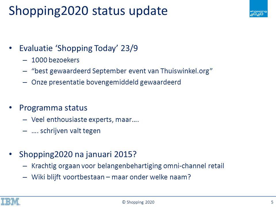 Shopping2020 status update