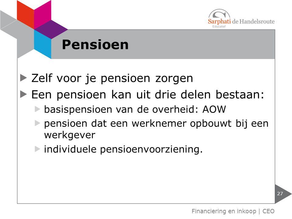 Pensioen Zelf voor je pensioen zorgen