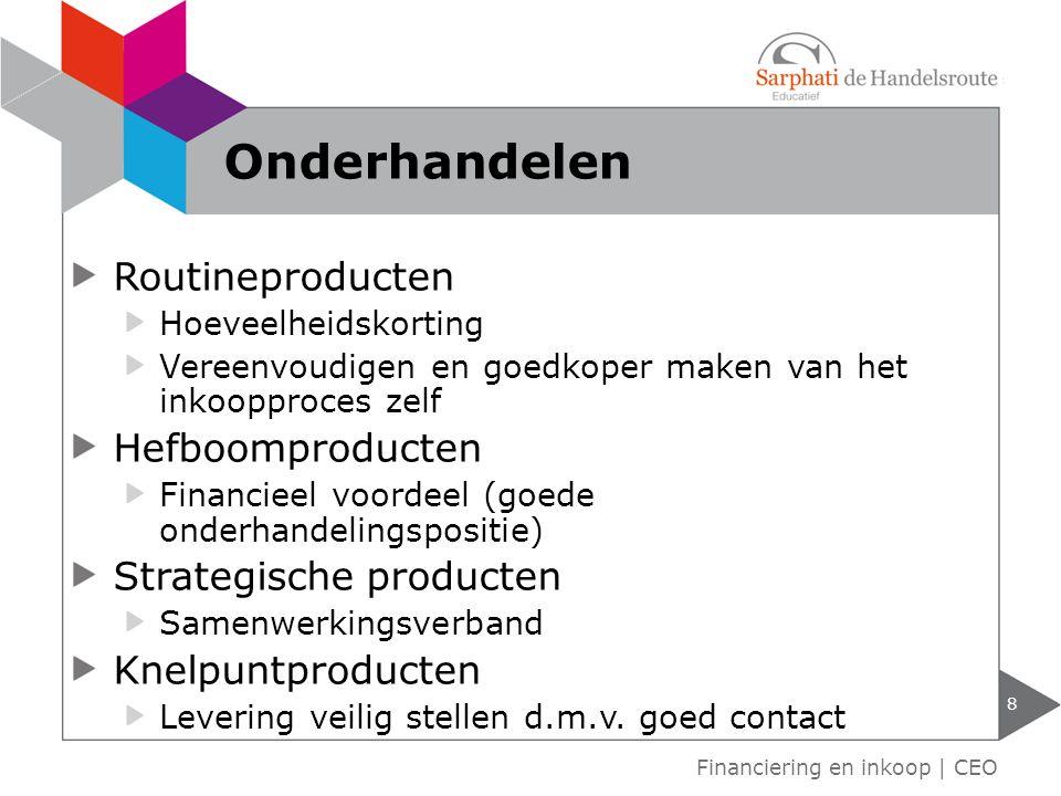 Onderhandelen Routineproducten Hefboomproducten Strategische producten