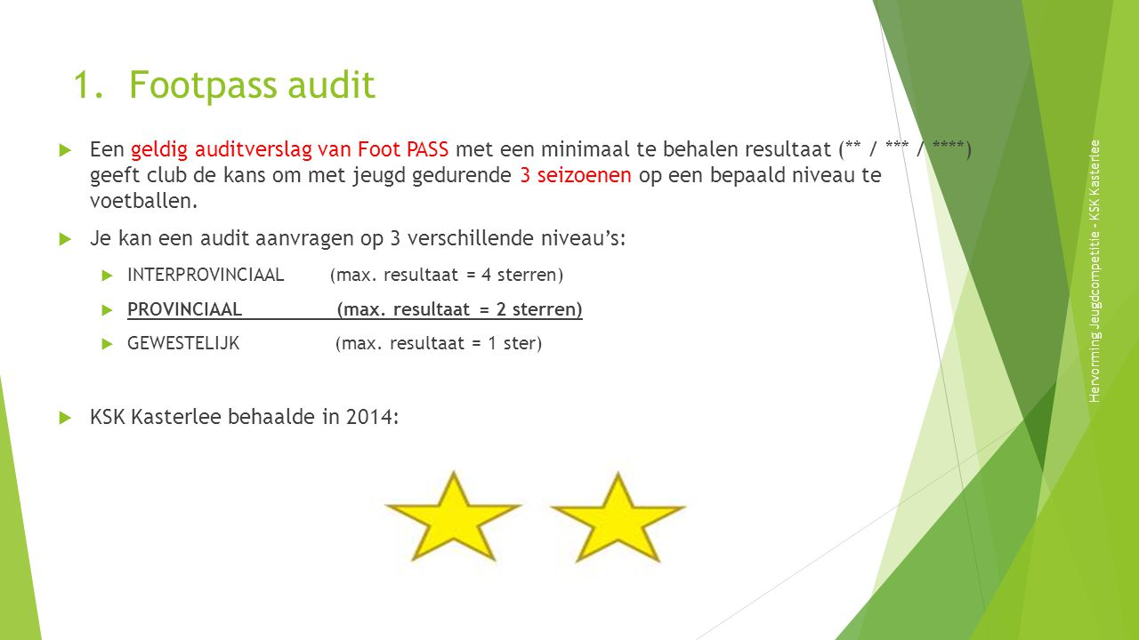 1. Footpass audit