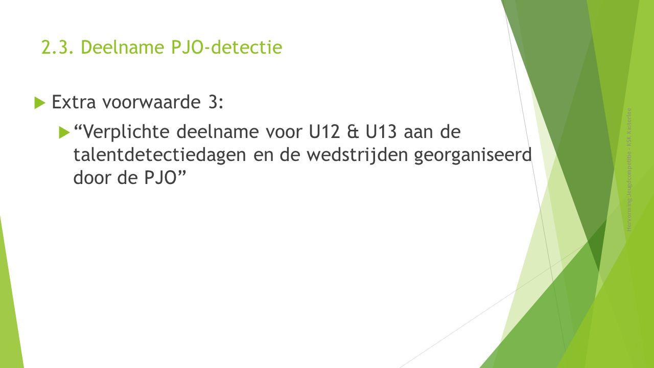 2.3. Deelname PJO-detectie