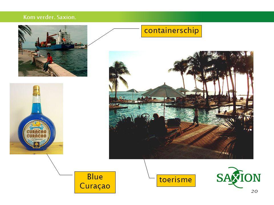 containerschip Blue Curaçao toerisme