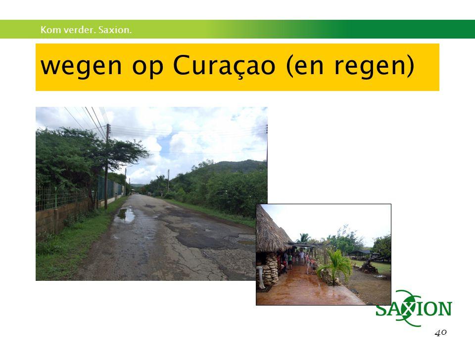 wegen op Curaçao (en regen)