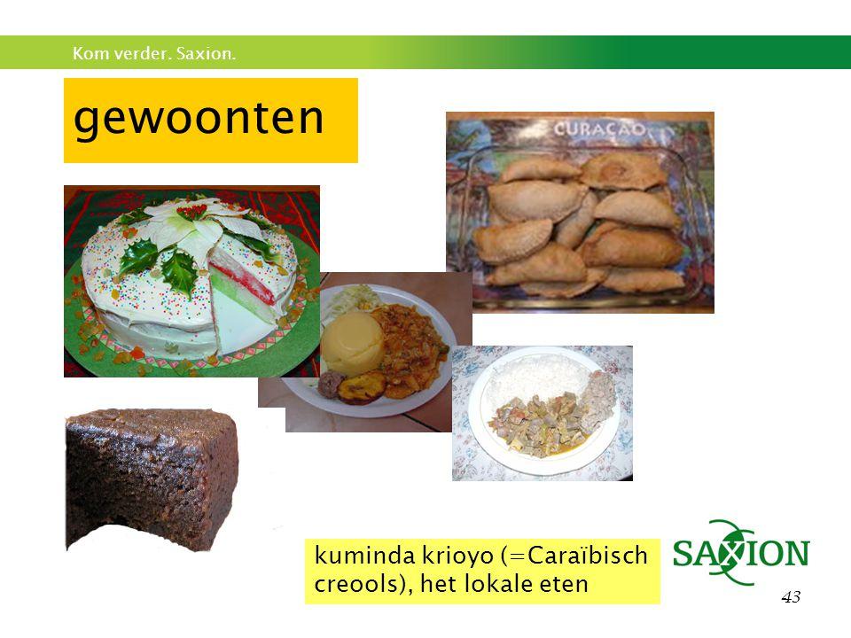 gewoonten kuminda krioyo (=Caraïbisch creools), het lokale eten