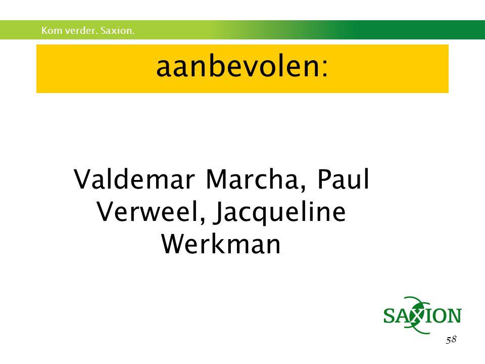 Valdemar Marcha, Paul Verweel, Jacqueline Werkman