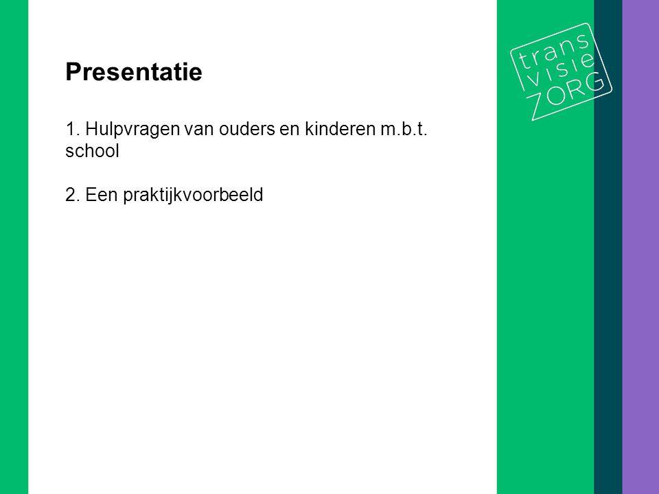 Presentatie 1. Hulpvragen van ouders en kinderen m.b.t. school