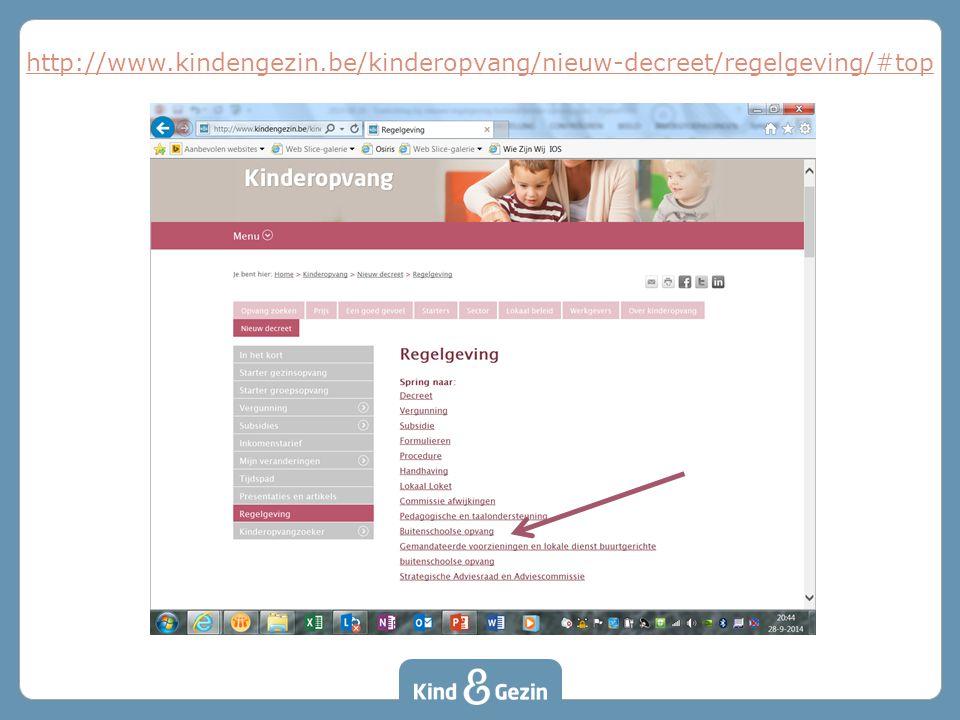 http://www.kindengezin.be/kinderopvang/nieuw-decreet/regelgeving/#top De goedgekeurde besluiten staan op de website.
