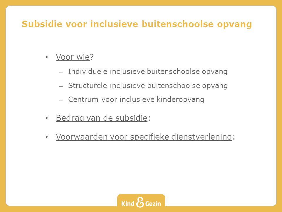 Subsidie voor inclusieve buitenschoolse opvang