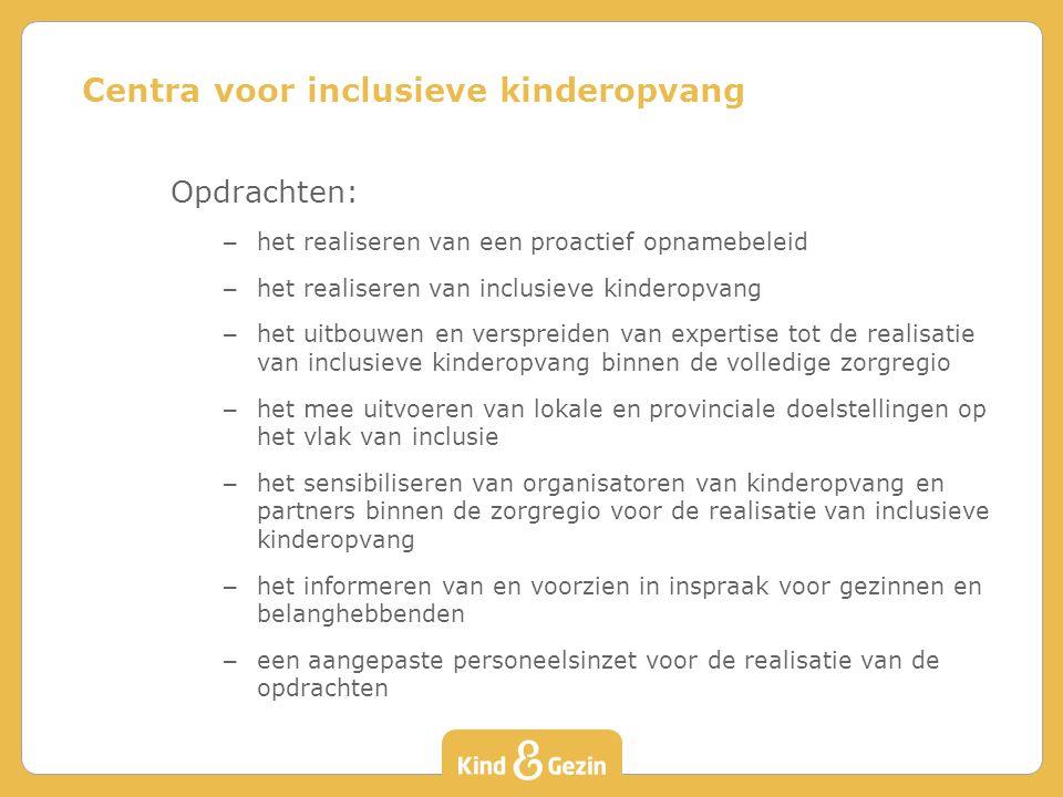 Centra voor inclusieve kinderopvang