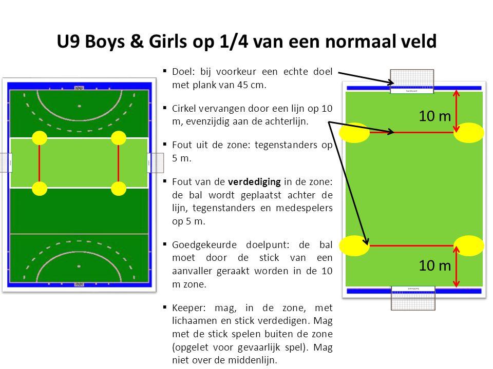 U9 Boys & Girls op 1/4 van een normaal veld