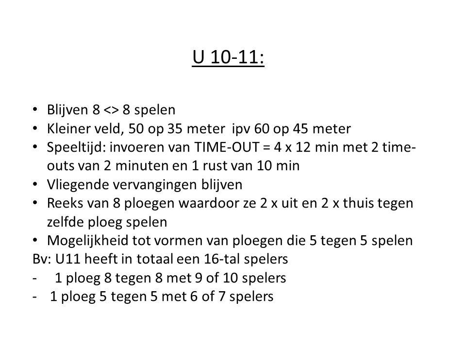 U 10-11: Blijven 8 <> 8 spelen