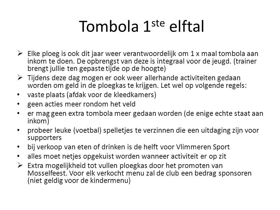 Tombola 1ste elftal