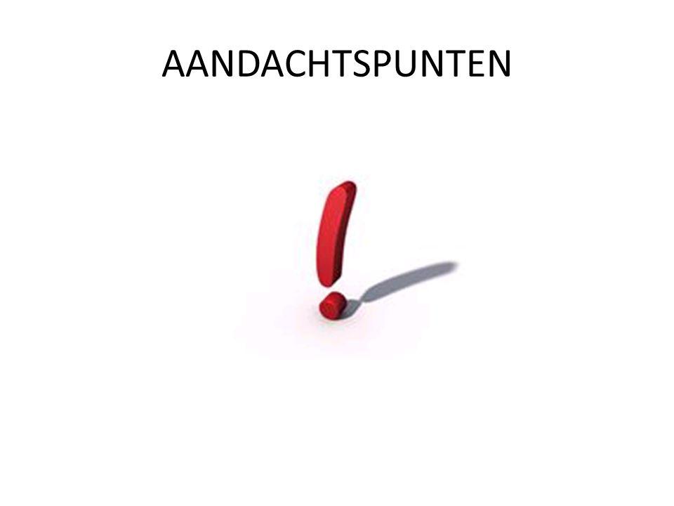 AANDACHTSPUNTEN