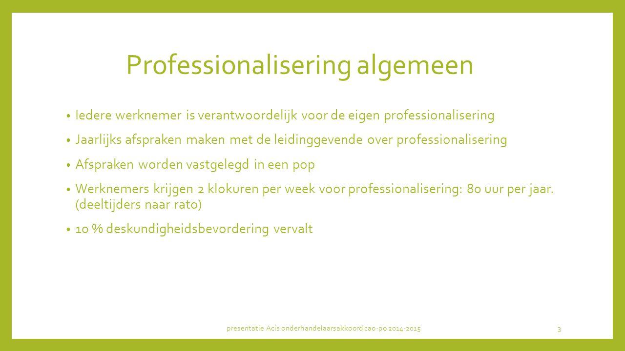 Professionalisering algemeen