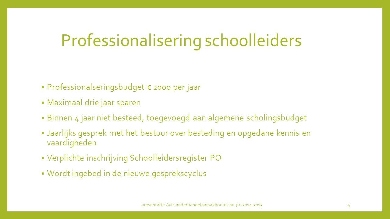 Professionalisering schoolleiders