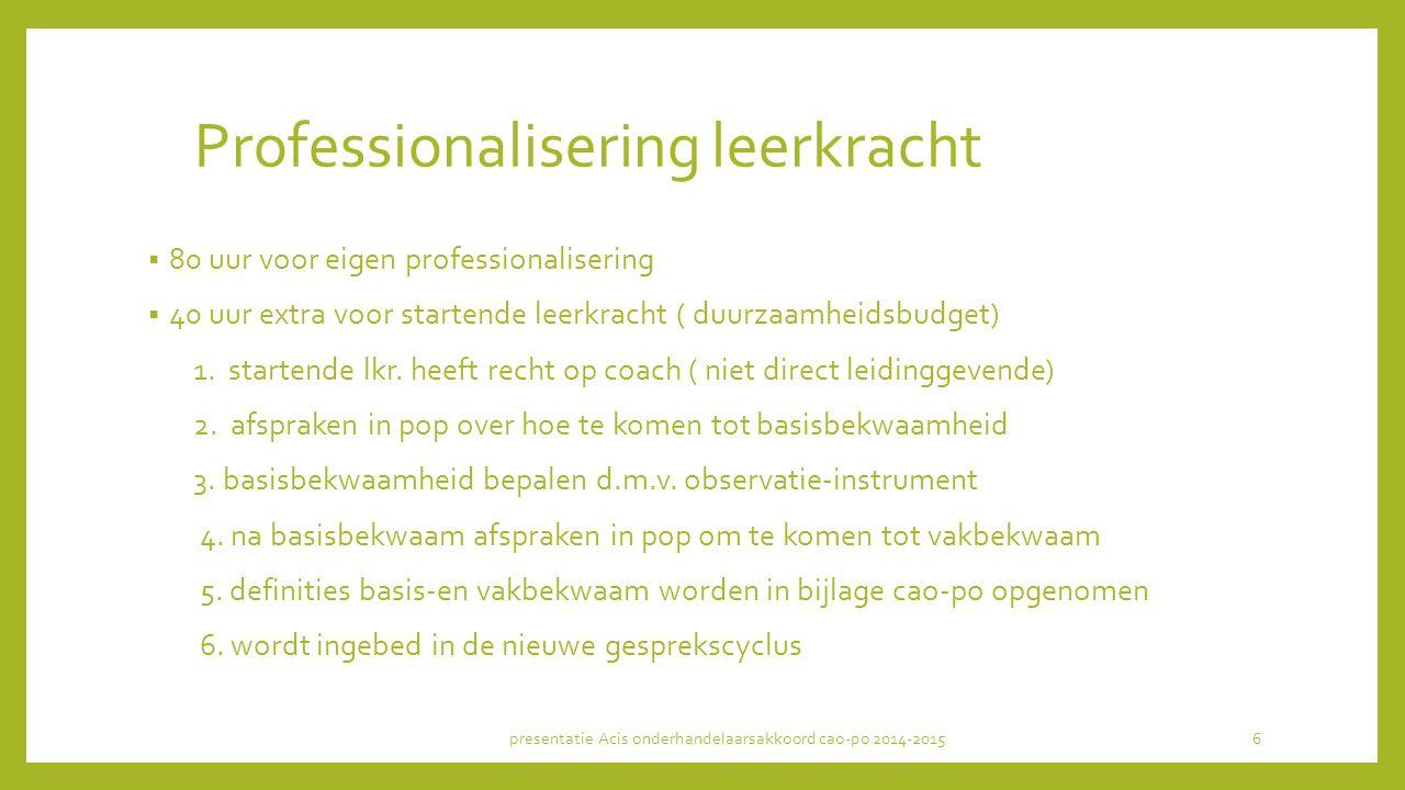 Professionalisering leerkracht