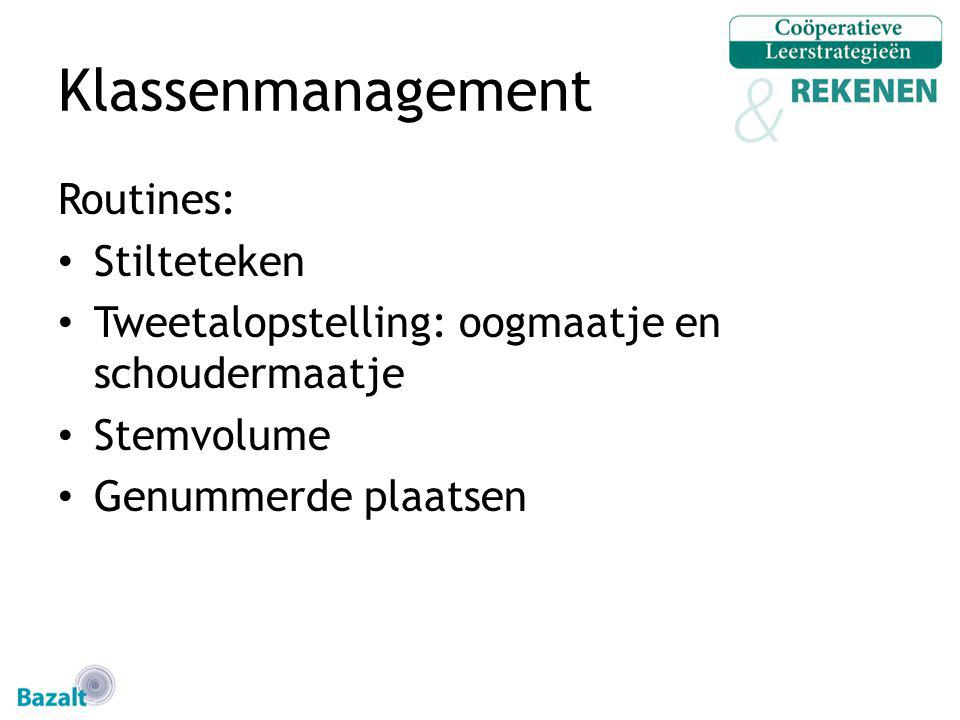 Klassenmanagement Routines: Stilteteken