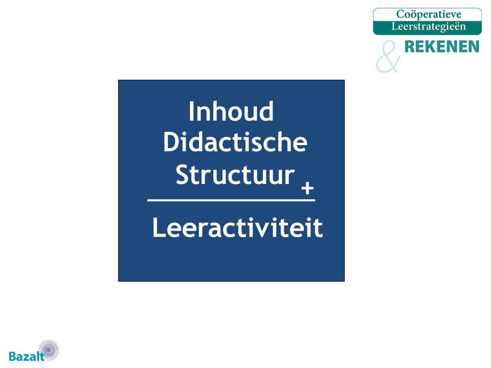 Inhoud Didactische Structuur + Leeractiviteit