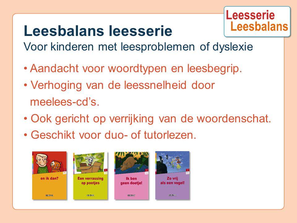 Leesbalans leesserie Voor kinderen met leesproblemen of dyslexie