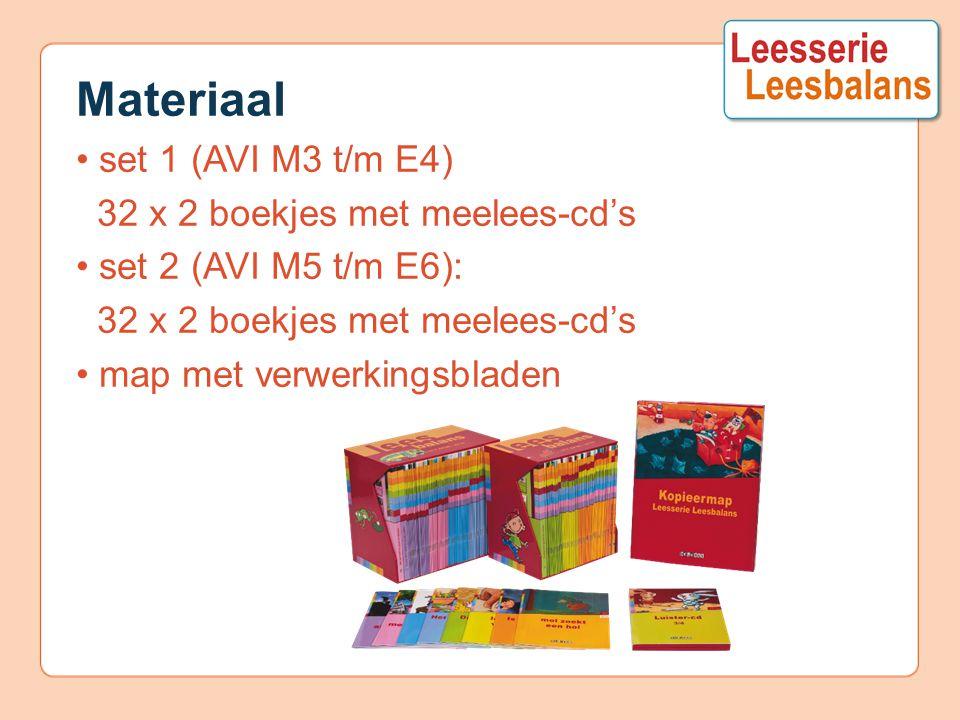Materiaal • set 1 (AVI M3 t/m E4) 32 x 2 boekjes met meelees-cd's