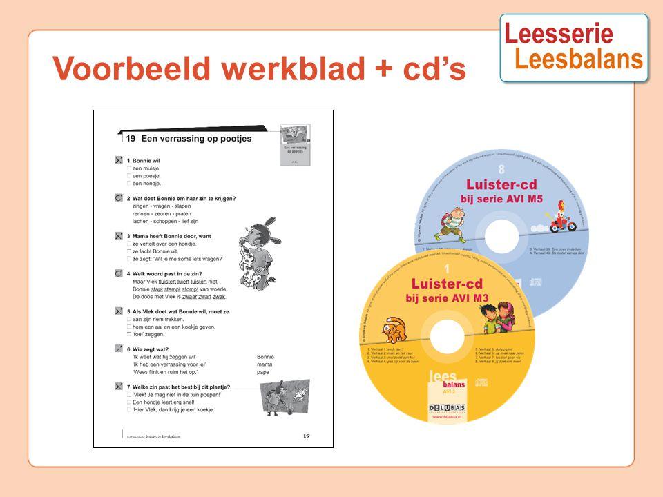 Voorbeeld werkblad + cd's
