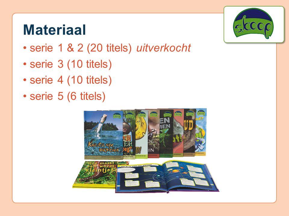 Materiaal • serie 1 & 2 (20 titels) uitverkocht • serie 3 (10 titels)