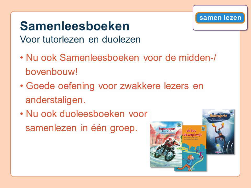 Samenleesboeken Voor tutorlezen en duolezen