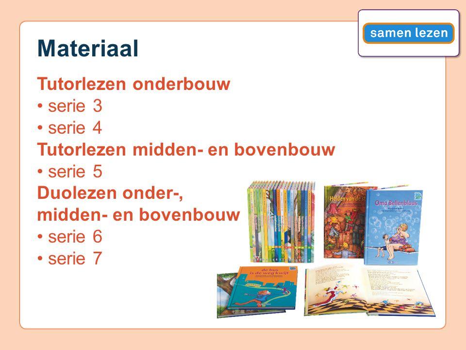 Materiaal Tutorlezen onderbouw • serie 3 • serie 4