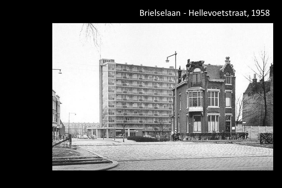 Brielselaan - Hellevoetstraat, 1958