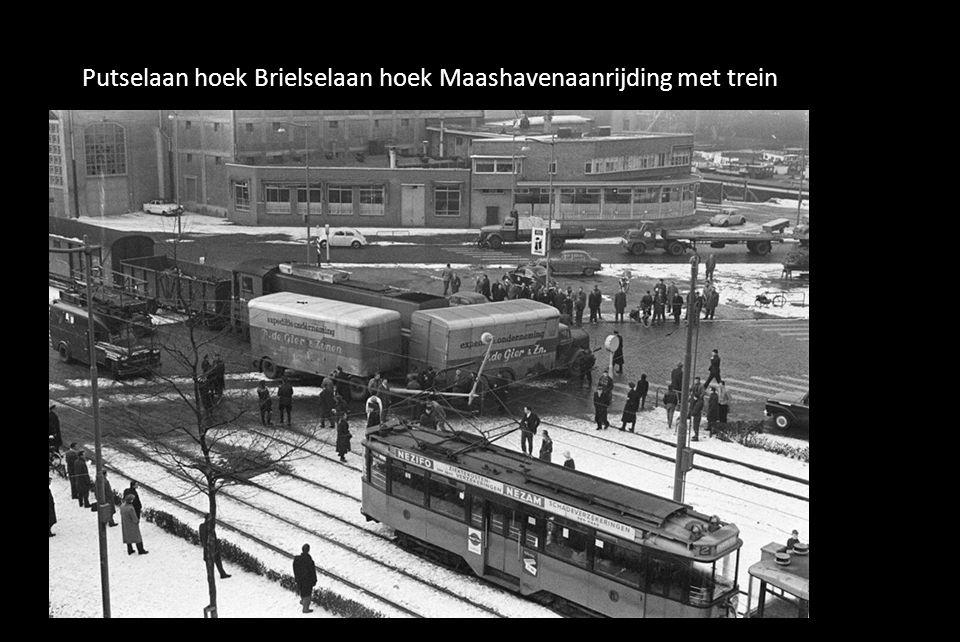 Putselaan hoek Brielselaan hoek Maashavenaanrijding met trein