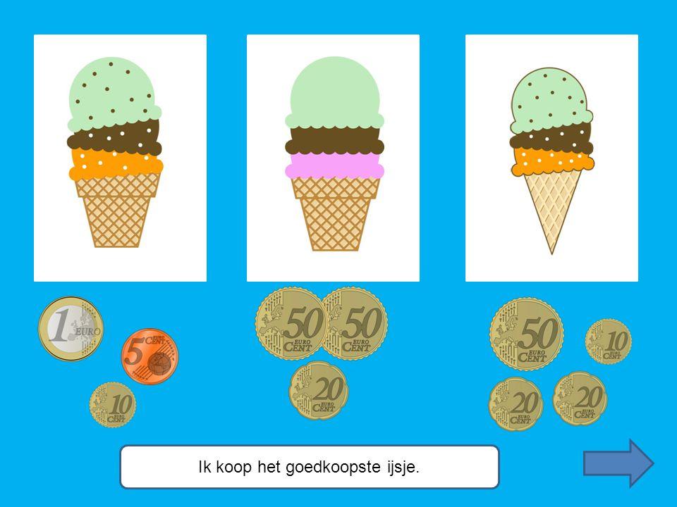 Ik koop het goedkoopste ijsje.
