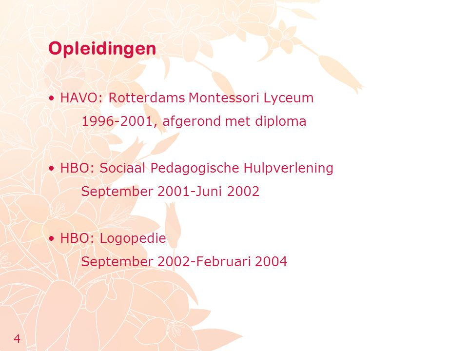 Opleidingen HAVO: Rotterdams Montessori Lyceum