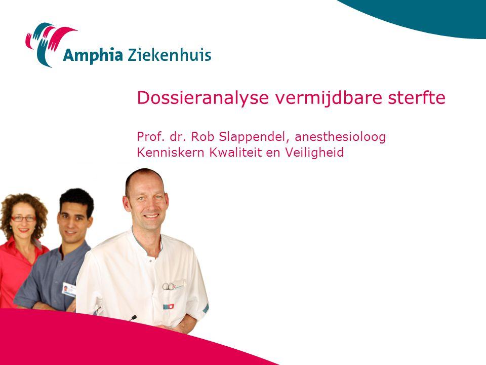 Dossieranalyse vermijdbare sterfte Prof. dr