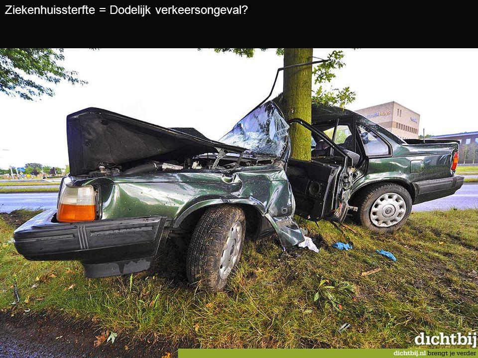 Ziekenhuissterfte = Dodelijk verkeersongeval