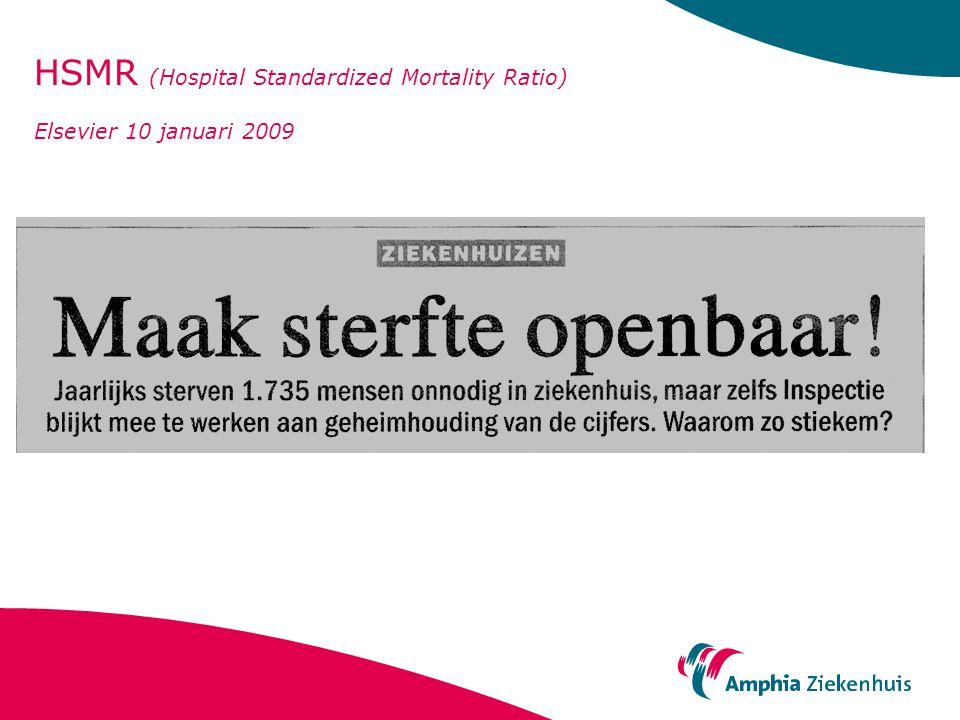 HSMR (Hospital Standardized Mortality Ratio) Elsevier 10 januari 2009