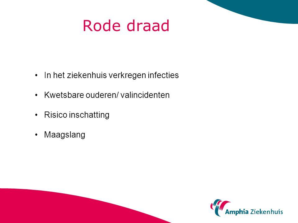 Rode draad In het ziekenhuis verkregen infecties