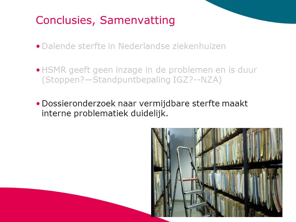 Conclusies, Samenvatting