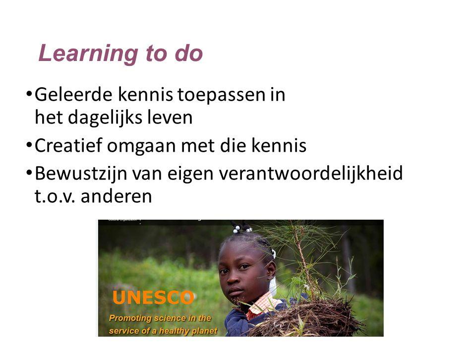 Learning to do Geleerde kennis toepassen in het dagelijks leven