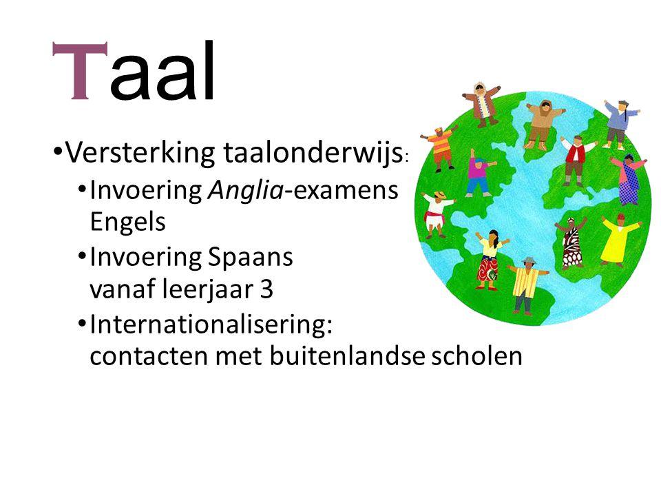 Taal Versterking taalonderwijs: Invoering Anglia-examens Engels
