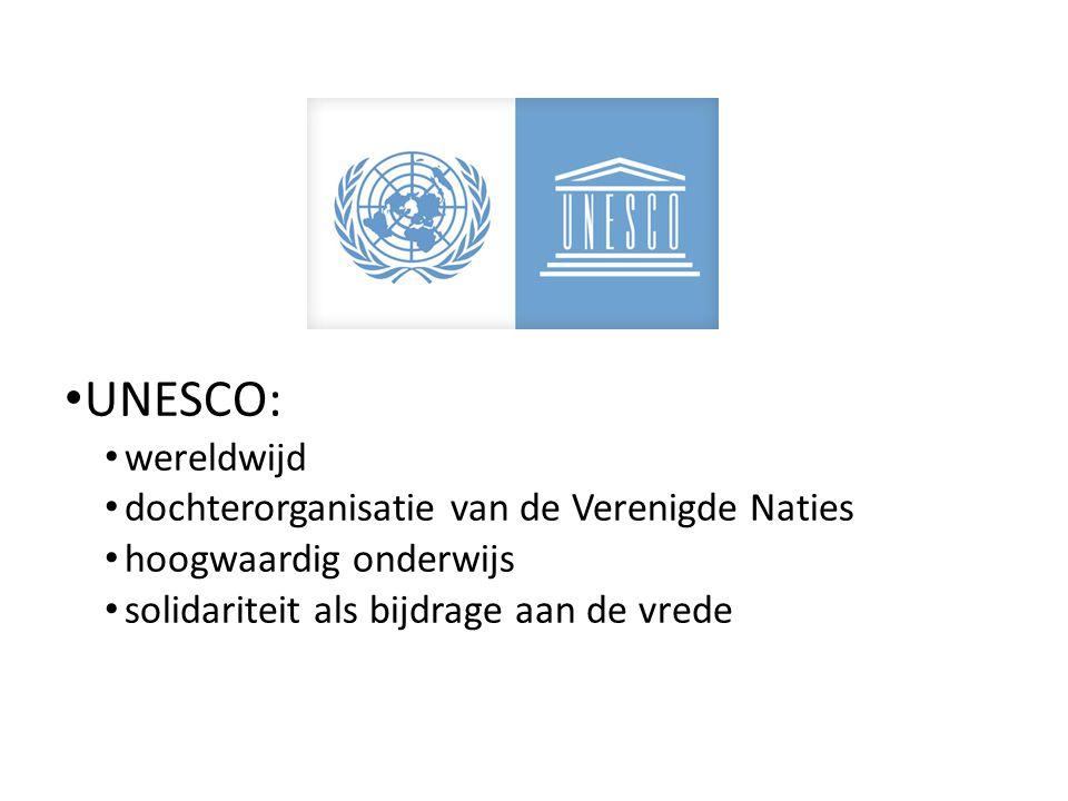 UNESCO: wereldwijd dochterorganisatie van de Verenigde Naties