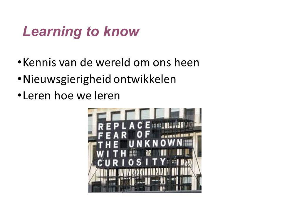 Learning to know Kennis van de wereld om ons heen