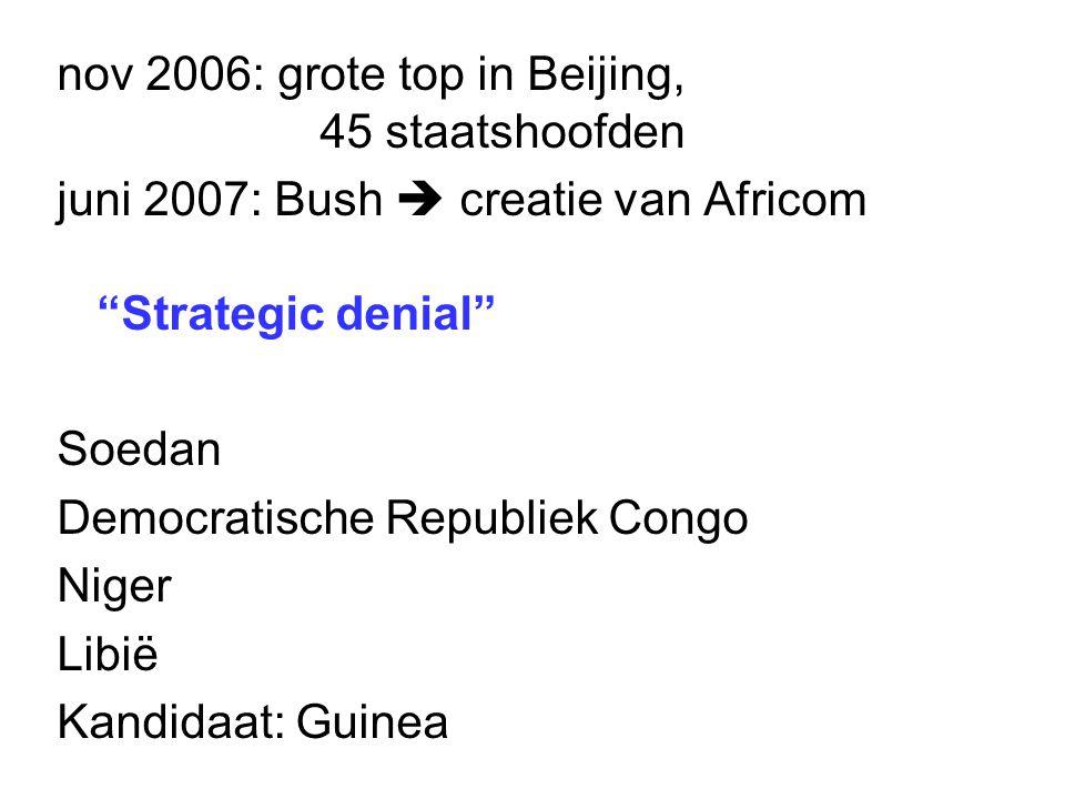 nov 2006: grote top in Beijing, 45 staatshoofden