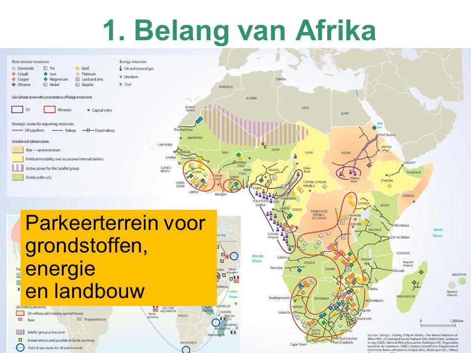 1. Belang van Afrika Parkeerterrein voor grondstoffen, energie en landbouw