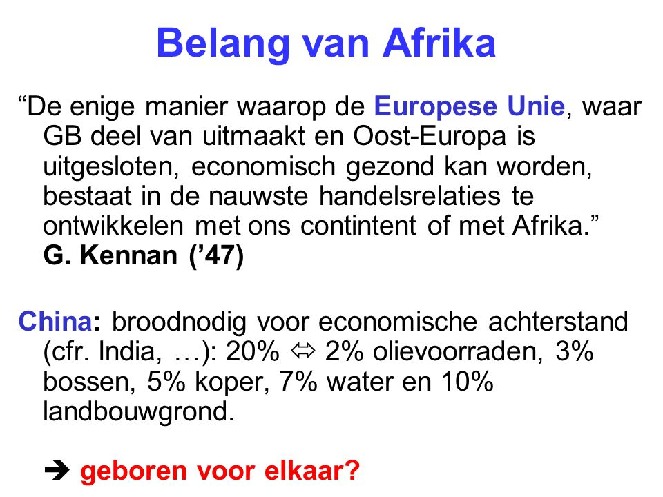 Belang van Afrika