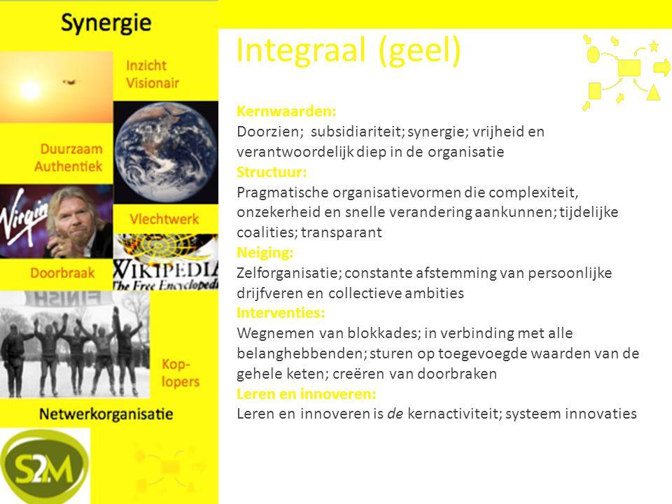 Integraal (geel) Kernwaarden: