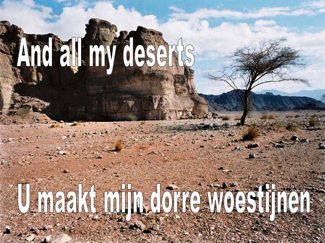 And all my deserts U maakt mijn dorre woestijnen