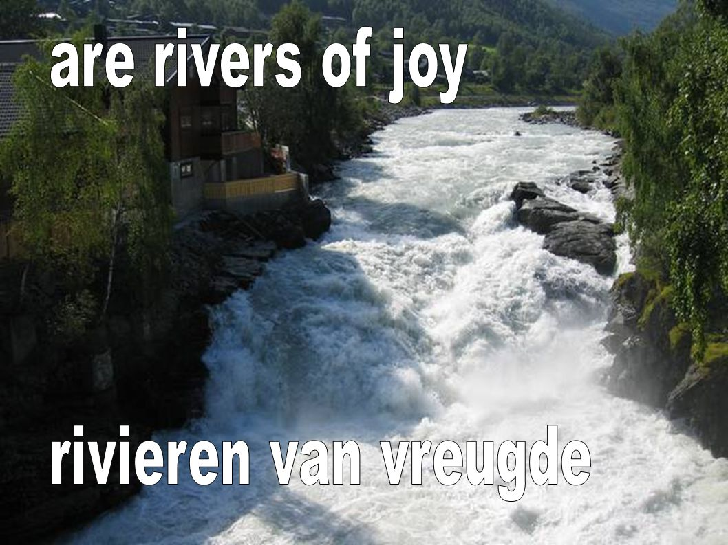 are rivers of joy rivieren van vreugde
